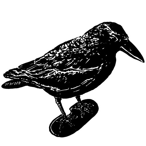 DECORATIVE CROW BIRD VARMINT SCARER