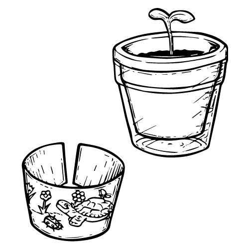 READY-TO-COLOR FLOWER POT