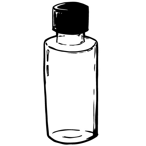 100mL CLEAR PLASTIC BOTTLE WITH SCREWCAP