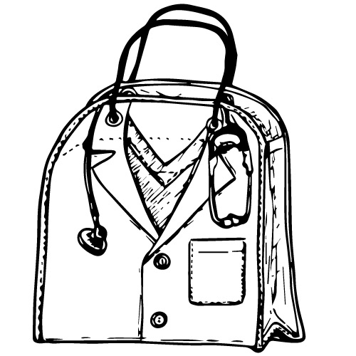 DOCTOR-THEMED PLASTIC TOTE BAG