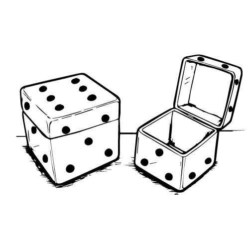 NESTING HINGED DICE BOXES