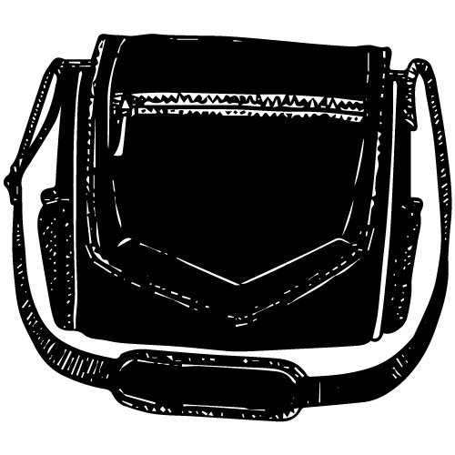 WANDERER TECH BALLISTIC NYLON MESSENGER BAG