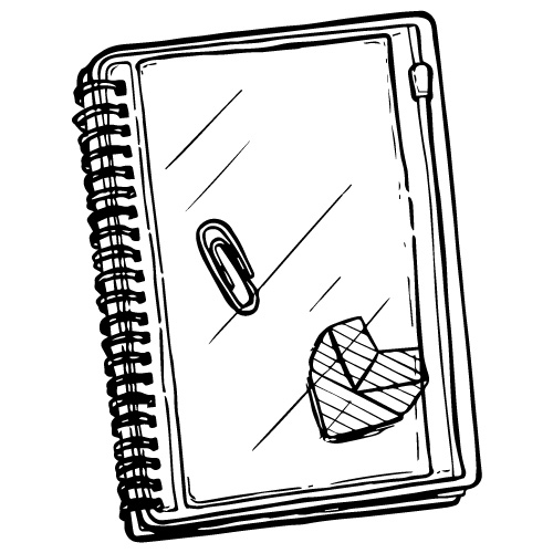 """5"""" X 7"""" SPIRAL NOTEBOOK WITH PLASTIC COVERS"""