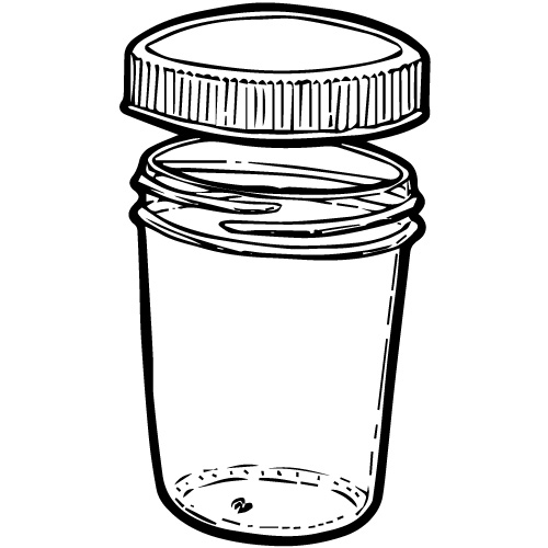 8 OZ TAPERED GLASS JELLY JARS WITH CAPS