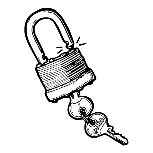 CLASSIC STACKED STEEL PADLOCK WITH KEY