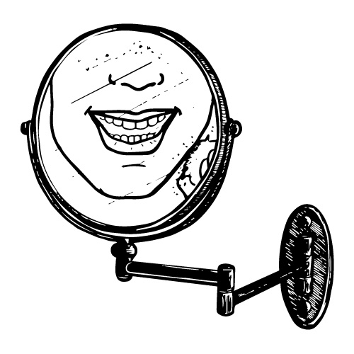 5X ARTICULATED ROUND MAGNIFIED GROOMING MIRROR