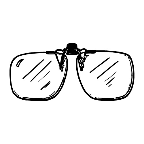 CLIP-ON FLIP-UP 2.50X MAGNIFYING READING GLASSES