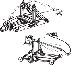 WOODEN MODEL TREBUCHET KIT