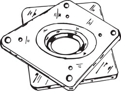 LAZY SUSAN TURNTABLE BEARING, 4""