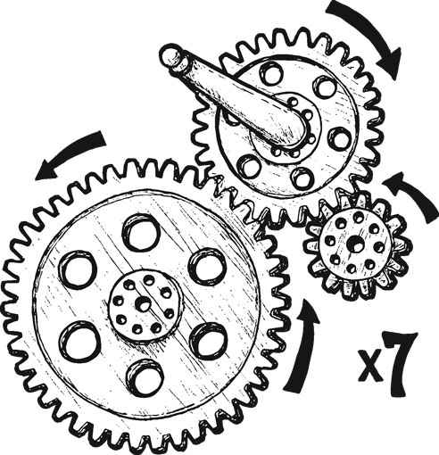 7-PIECE MESHING GEAR SET